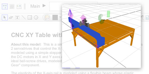 Model Gallery - HydraulicCNC XY Table with Rail Elastic Bending