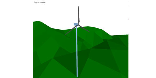 MapleSim Model Gallery: Wind Turbine Vibrations