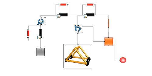 Trebuchet Multibody Multi Domain Physical Model In Maplesim
