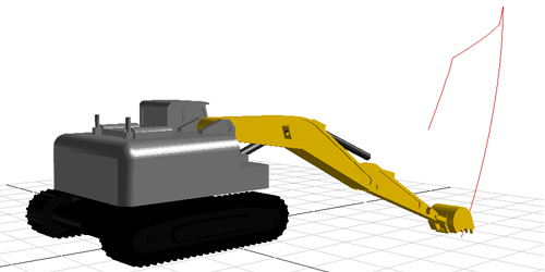 Excavator Model with Hydraulics