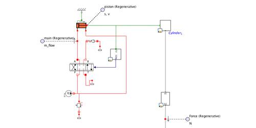 Hydraulic Press with Regenerative Circuit – Multibody, Multi-Domain  Physical Model in MapleSim – Maplesoft | Hydraulic Press Schematic |  | Maplesoft