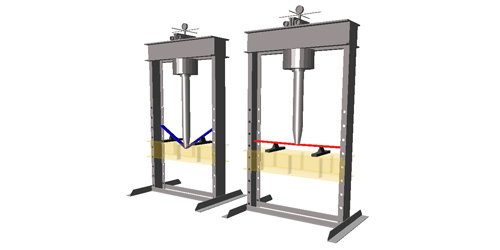 MapleSim Model Gallery: Hydraulic Press with Regenerative Circuit