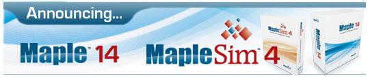 MapleSim 4 & Maple 14