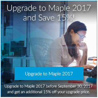 Maple 2017 Upgrade offer