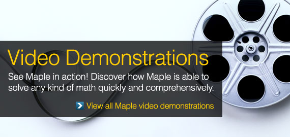 See Maple 16 in Action