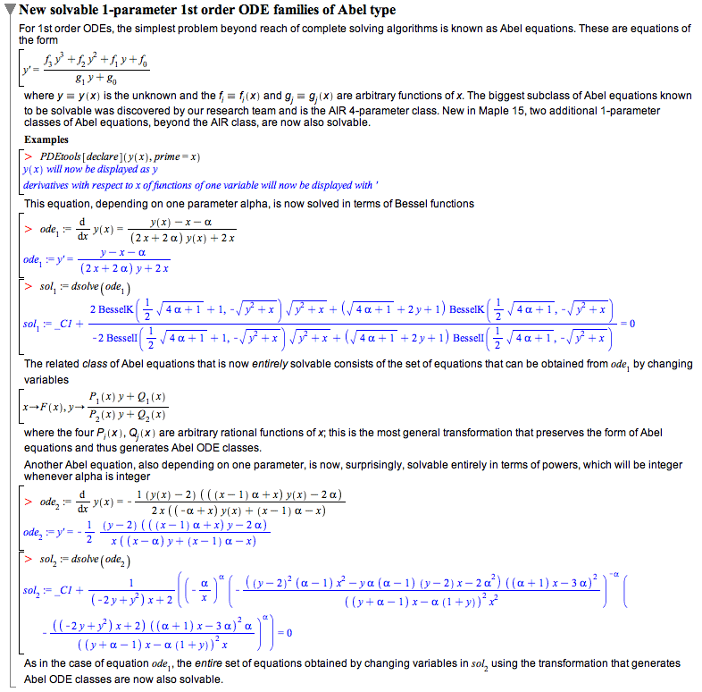 differential equations new features in maple 15 technical rh maplesoft com Differential Equations Meme Differential Equations Easy
