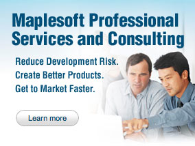 Maplesoft Professional Services and Consulting