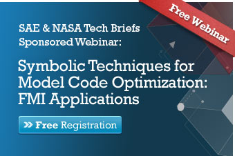 SAE & NASA Tech Briefs Webinar: Symbolic Techniques for Model Code Optimization: FMI Applications
