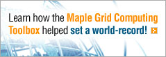 Maplr Grid Computing Help Set Record